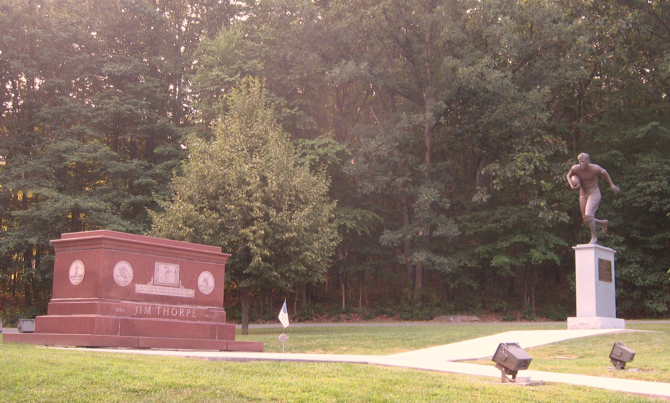 Image of Jim Thorpe memorials