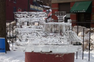 Ice sculptures are always a highlight of Jim Thorpe's WinterFest.