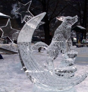 Ice carvings are a highlight of WinterFest in Jim Thorpe.