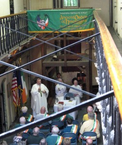 The Ancient Order of Hibernians gathered at the Old Jail and Museum for the Day of the Rope Mass, commemorating the 135th anniversary of the hanging of the Molly Maguires.