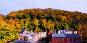 Mother Nature puts turns on the color in Jim Thorpe each fall.