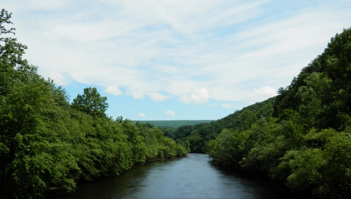 Lehigh River in Jim Thorpe from Pedestrian Bridge