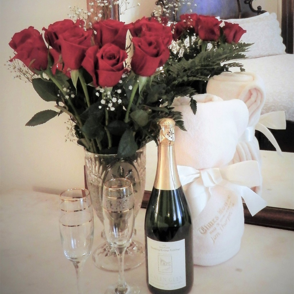 Roses and champagne at Times House
